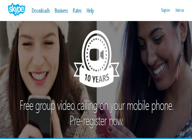 Skype: videochiamate di gruppo su smartphone