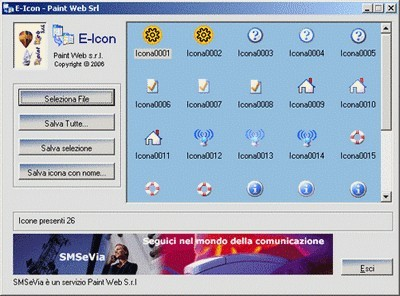 E-icon, software gratuito per l'estrazione di icone