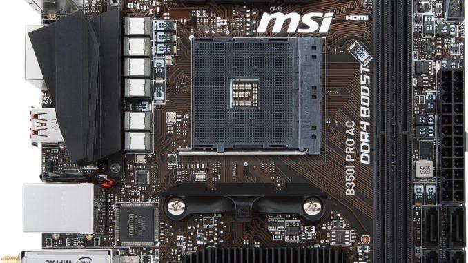 MSI MINI-ITX B350 RYZEN PRO AC II